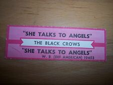 """1 Black Crows She Talks To Angels Jukebox Title Strips CD 7"""" 45RPM Records"""
