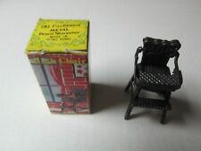 Old Fashioned Metal Pencil Sharpener HIGH CHAIR w/ Box #6028