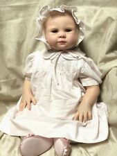 """Reborn 22"""" Girl Doll sculpt by S. Faber with Brown Eyes & Blonde Hair Vinyl Body"""