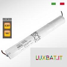 Pacco batteria SAFT 4VNTDHU Ni-Cd per lampade d'emergenza, 4,8V 4000mAh alta tem