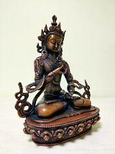 Antiques Tibet Old Tibetan Bronze Vajrasattva Dorje Sempa Buddha Statue