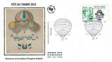2013-Fdc.Enveloppe soie 1°jour-Fête du timbre-Marianne et les ballons-Yt.4809
