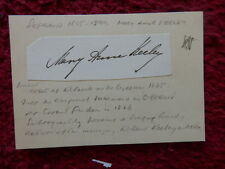 MARY ANNE KEELEY OPERA SINGER / ACTRESS AUTOGRAPH