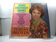 "TERESA BREWER -(LP)- SONGS EVERYBODY KNOWS   ""WALKING THE FLOOR OVER YOU"" - 1961"