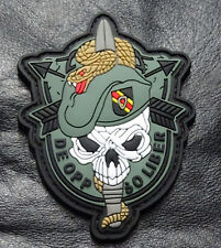US Army Special Forces Skull Sword and Snake 3.0 Inch Patch (PVC Rubber-MTF12)