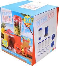 12Pce COCKTAIL  MULTI FOOD/FRUIT/JUICE BLENDER/CHOPPER/SMOOTHY MAKER (BLUE)