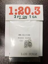 Ozark Miniatures 1:20.3 OM-12-1120 brake locks 2 Pcs New G scale