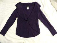 Paper Doll Girls  Sz Medium Purple Long Sleeve Open Sweater EUC