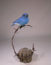 Mountain Bluebird Orig Backyard Bird Carving/Birdhug
