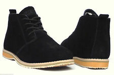 Mens Black Suede Leather Northwest Territory Desert Formal Casual Boots UK 9 43