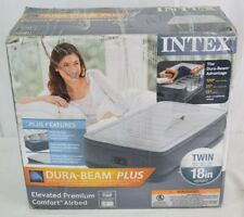 Intex 64411E Comfort Dura-Beam Elevated Twin Air Mattress with Built-In Pump NOB
