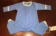 Babysoy Infant Boy Lake Blue Footie Footed Sleeper New 0-3 Months