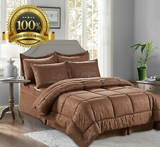 Silky Soft Bamboo Design Bed-in-a-Bag 8-Piece Comforter Set -HypoAllergenic - F