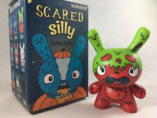 GMD genetically modified DUNNY Kidrobot The Bots SCARED SILLY Vinyl Figure green