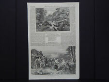 "The Illustrated London News 4s113 (""The Strid, Wharfdale, Yorkshire"") July, 1852"