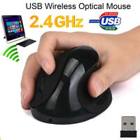 2.4G 6 Buttons Wireless Ergonomic Optical USB Vertical Mouse Mice 1600 DPI LotAU