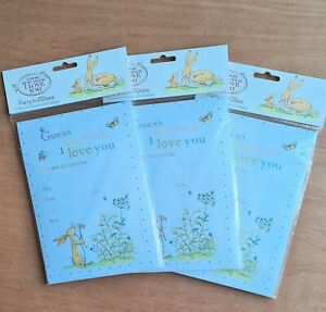 30 x PARTY INVITATION CARDS GUESS HOW MUCH I LOVE YOU BABY BOY GIRL