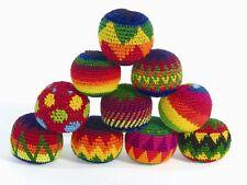 Fair Trade SET of 3 Haki Hacky Sacks Juggling Stress squeeze Balls circus skills