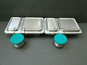 Two PlanetBox Stainless Steel Shuttle Lunchbox