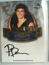2009 Pinnacle Rare Un-numbered Signature Card DP10 Phil Davis Adelaide