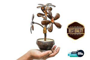 Handmade Eco Friendly 100% Natural Ceylon Coconut Shell Flower Pot Home Decor