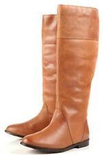 Topshop Tan Dasher Riding Boots High Leg Boots UK 4 EURO 37 US 6.5 AUS 7