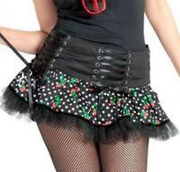 Kilt Skirt Hebilla De Cráneo Negro Tartán XS S 8 10 Skater Plisada A Cuadros Punk Rock