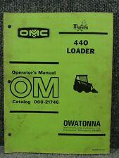 Oem Factory Omc Mustang 440 Skid Steer Loader Operators Manual 000 21746