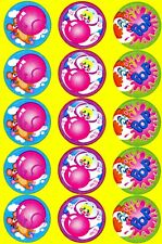 Stinky stickers, Blowing bubbles, Bubble gum scent. 15 stickers!
