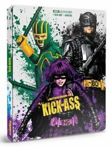 KICK-ASS (U.S. EXCLUSIVE STEELBOOK 4K Ultra HD +Blu-ray +Digital) NEW