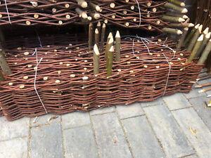 Natural Willow Border Edging 100cmx20cm Garden Lawn Hurdle Wicker 1 Panel Only