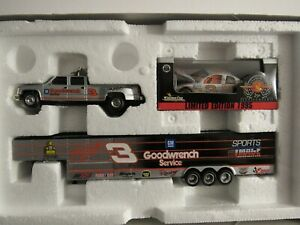 #3 Dale Earnhardt 1996 Silver Select & Black Trailer, 1/64 Dually & Trailer Car