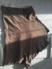 Zara wool poncho brown with pockets