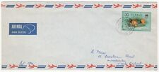 1981 TUVALU Air Mail Covers FUNAFUTI to HARPENDEN GB Official Overprint