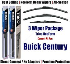 3-Pack Wipers Front & Rear - NeoForm - fit 1984-1989 Buick Century 16180x2/30160