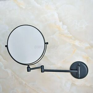 Black Brass Folding Arm Wall Mount Magnifying Cosmetic Bathroom Mirror wba634