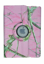 CAMO LIGHT PINK MOZY FOLIO CASE IPAD 2/3/4 360 ROTATING STAND TABLET COVER