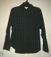 Time And Tru Women's Long Sleeve Soft Flannel Button Front Shirt Size XL 16-18