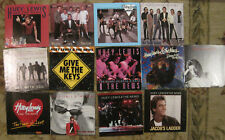 LOT of 13 HUEY LEWIS & THE NEWS 45rpm Picture Sleeves (only)