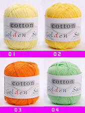 32Colors 50g Soft Bamboo Crochet Cotton 110m Knitting Yarn Baby Knit Ball Yarn