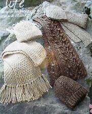 #171 Childs DK Aran & Chunky 3X Scarf & Hat Sets Vintage Knitting Pattern 2-12yr