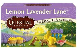 Celestial Seasonings Lemon Lavender Lane, NEW 20 bags boxed