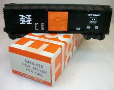 LIONEL POSTWAR 6464-725 BLACK NEW HAVEN BOX CAR C--10 UNRUN HAGERSTOWN ORIG BOX