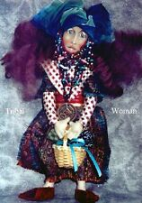 """*NEW* CLOTH ART DOLL (PAPER) PATTERN """"TRIBAL WOMAN"""" BY CHRISTINE SHIVELY"""