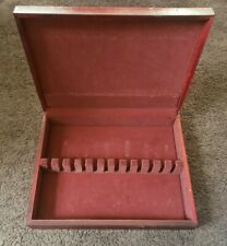 Silverware Flatware Wooden Storage Chest Case Box