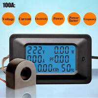 LCD digital 20 / 100A panel power wattmeter monitor voltage KWh voltmeter ammete