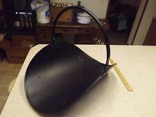 Metal Black Log Holder Stand Carrier With Handle Fireplace Footed Basket Vintage