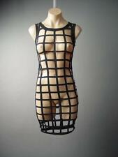 Cage Strappy Cutout Industrial Goth Cyber Punk Rave Club Layer 131 fp Dress S