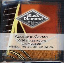 Black Diamond Brass Wound Light Gauge Ball End N8020L Acoustic Guitar String