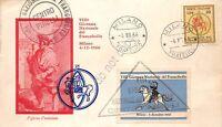 FDC Italia Repubblica 1966 - Giornata del Francobollo con erinnofilo - Pirelli